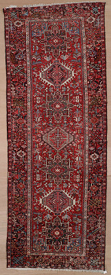 Persian Heriz Runner 4x12