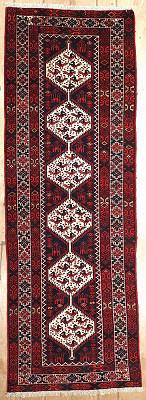 Persian Hamedan Runner 3x9