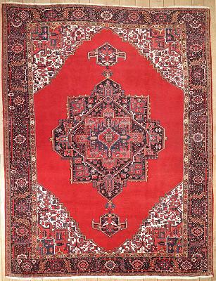 Persian Heriz Rectangle 9x12