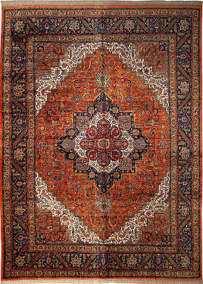Persian Heriz Rectangle 9x13