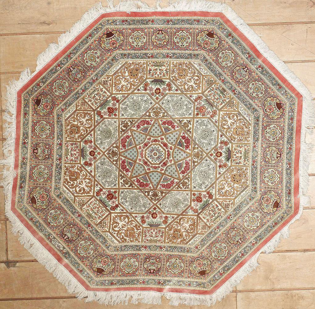 Persian Qum Hexagon 5x5