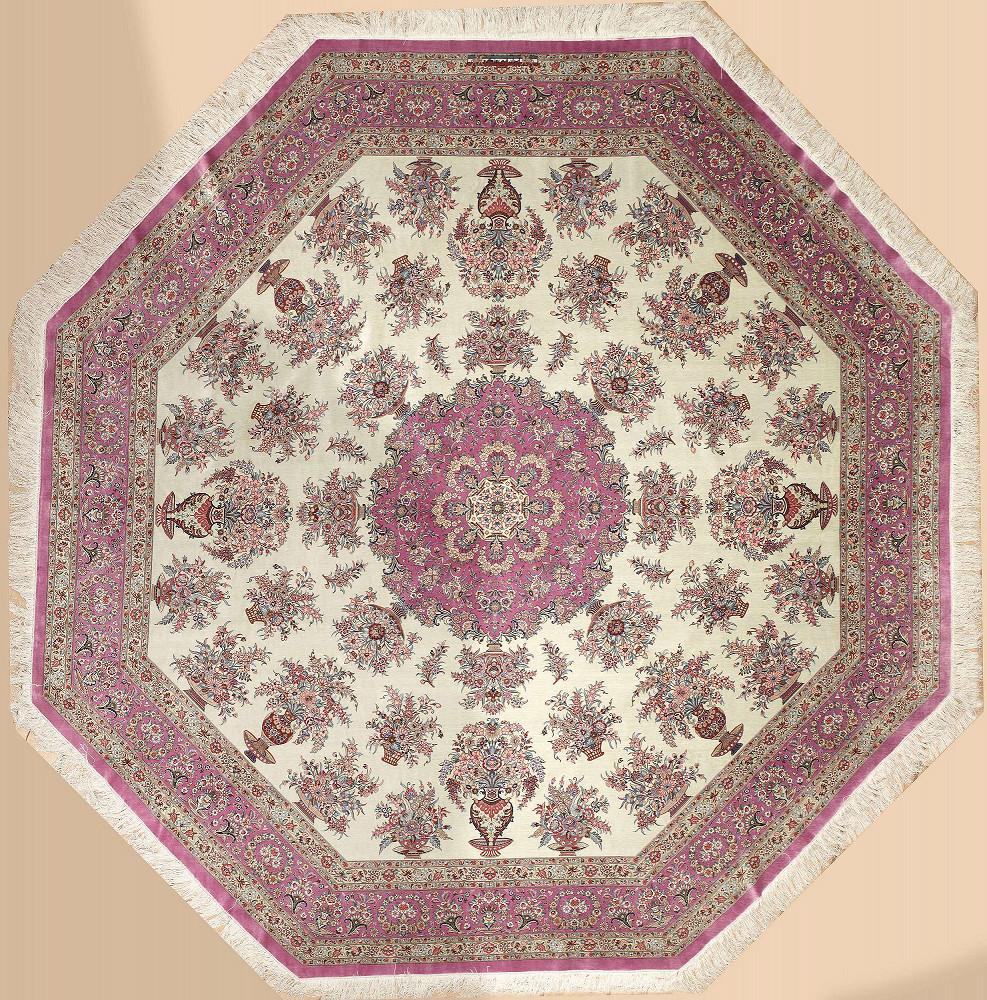Persian Qum Hexagon 9x9