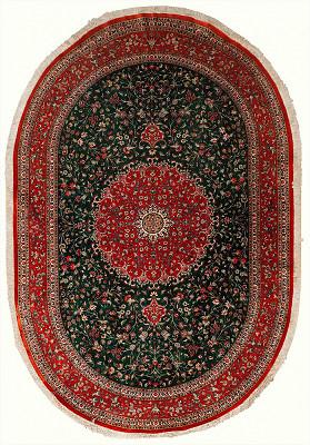 Persian Qum Oval 6x9
