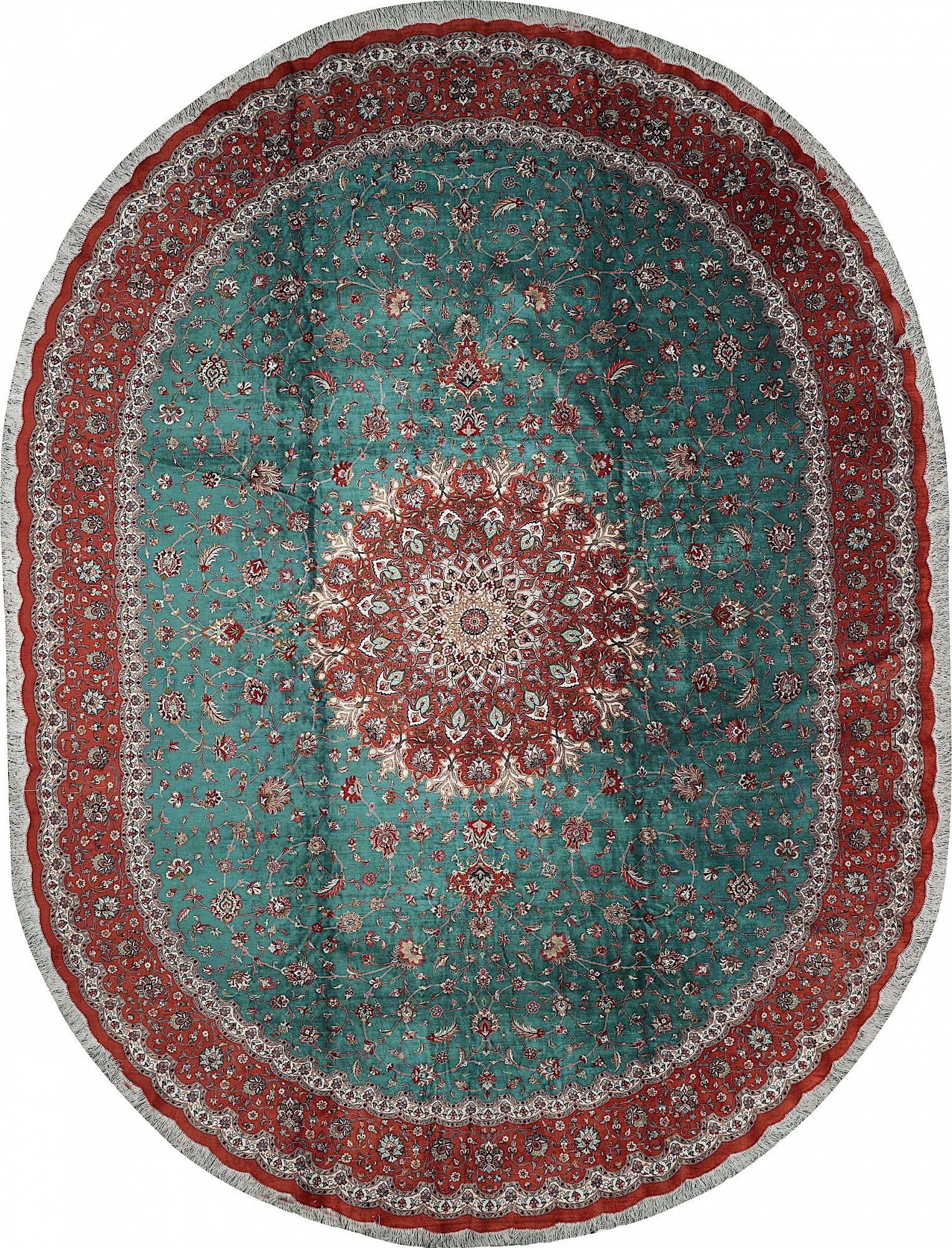 Persian Qum Oval 9x12
