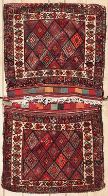 Persian Saddle Bag Runner 3x6