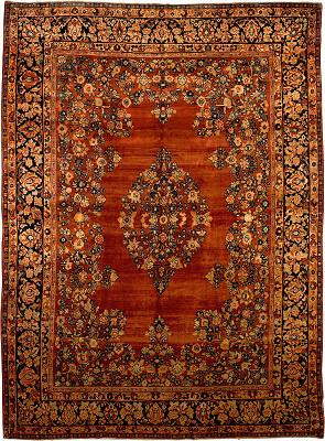 Persian Sarouk Rectangle 8x11