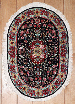 Persian Qum Oval 2x3