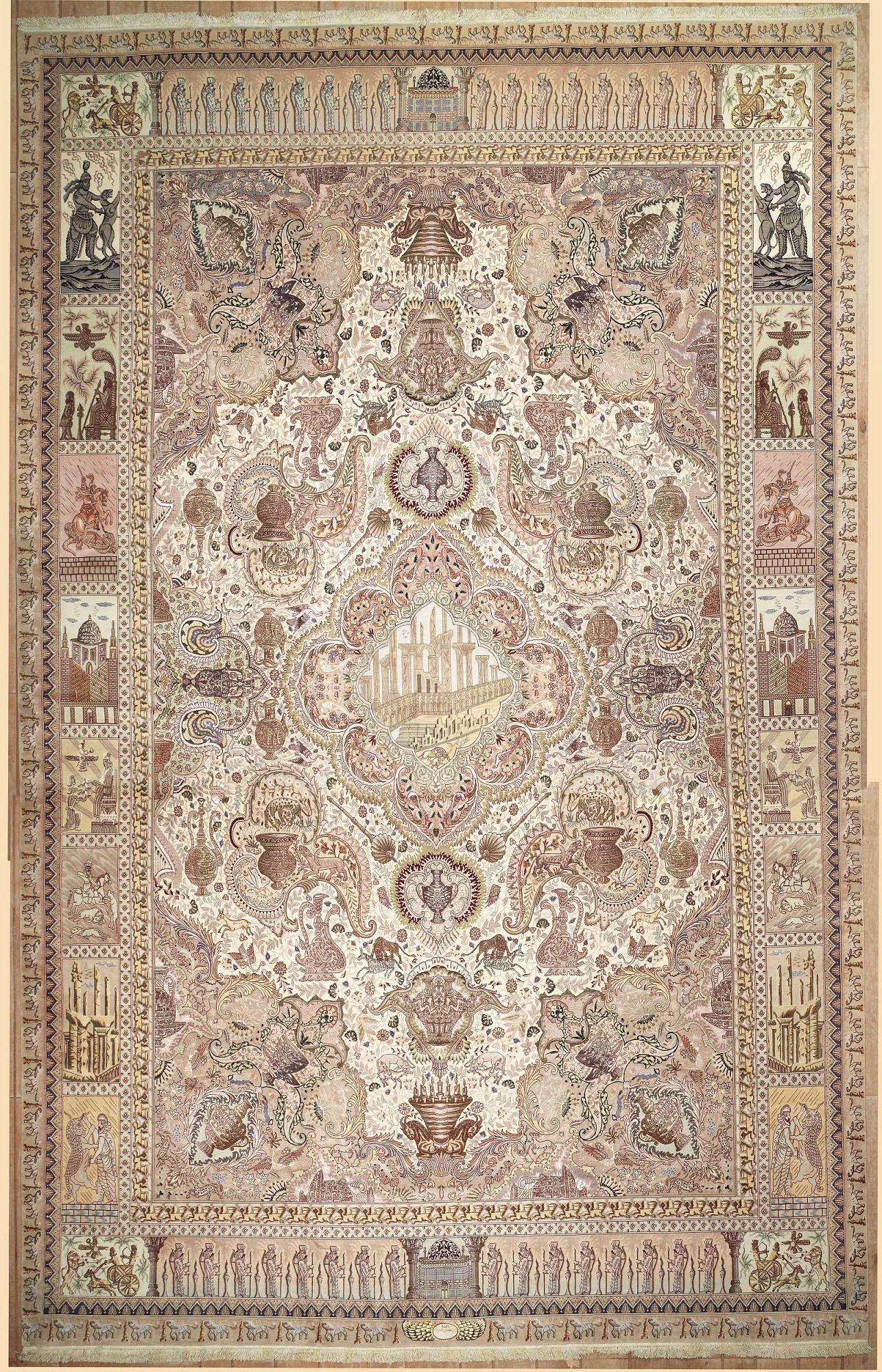 Persian Tabriz Rectangle 12x20